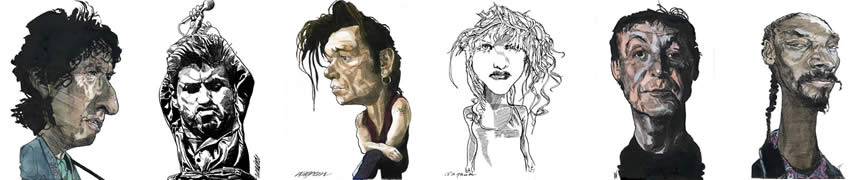 Caricatures by Kerry Waghorn