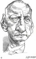 George C. Scott caricature