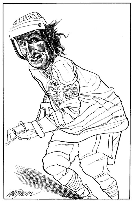 wayne gretzky coloring pages - photo#8