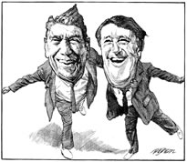 Ronald Reagan and Brian Mulroney