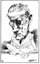 James Joyce caricature